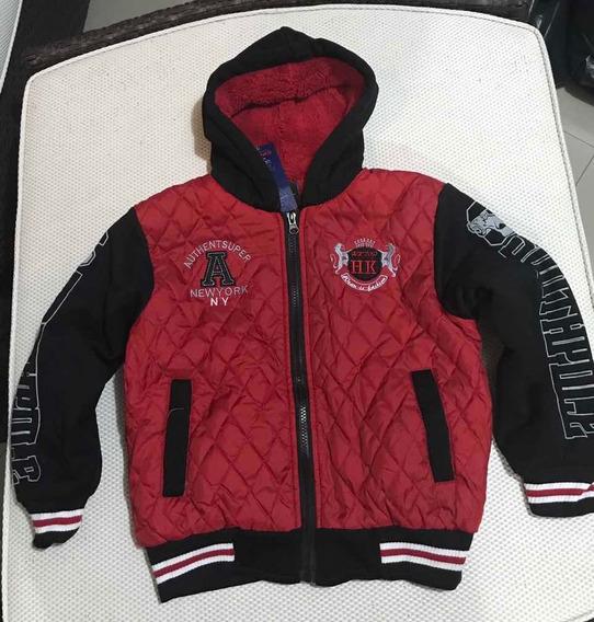 Casaco/jaqueta C Capuz Nylon E Moleton Infantil Ref: 804