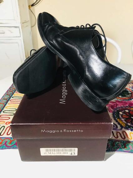Zapatos Maggio & Rossetto - Negros Talle 43 - 29 Cm De Pla