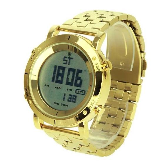 Relógio Masculino Digital Prova Dágua Dourado Skmei Original