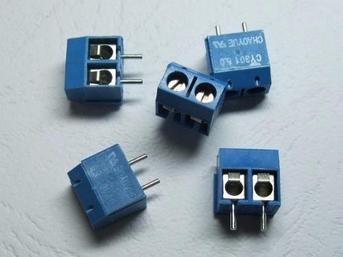 10 Conectores Terminal Duplo Borne 5mm. 250v 2 Pinos
