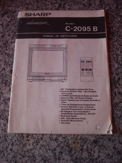 Manual De Instruções Tv Sharp C-2095 B