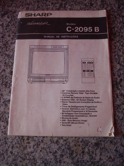 Manual De Instruções Tv Sharp C-2095 B