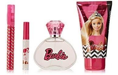 Kit Perfume Infantil Adolescente Barbie 100ml (4 Peças)