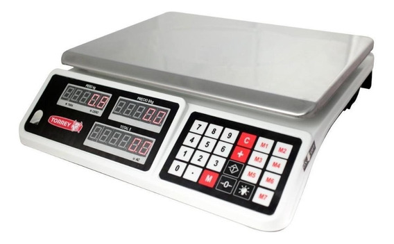Báscula comercial digital Torrey SXT 30 kg 110V blanco