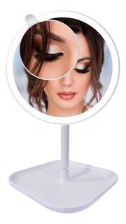 Espejo Luz Led Armable Tactil 360° Maquillaje Carga Usb Pila