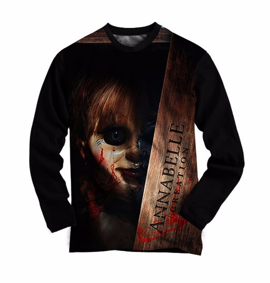 Camiseta Manga Longa Anabelle - Camisa Anabele Filme Terror