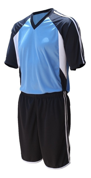 Jogo De Camisa Calção Meião, Fardamento Futebol - Kit 16