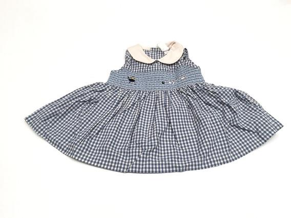 Vestido Sin Mangas Cuadrillé Baby Gap 3-6 Meses P/ Nena