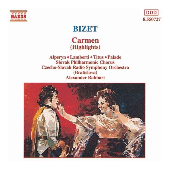 Cd Bizet Carmen Highlights Aleman Original