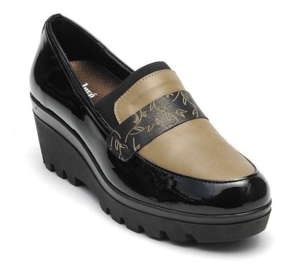 Onena Juvé Mujer Zapato De Charolo Negro Epeine Café 6276