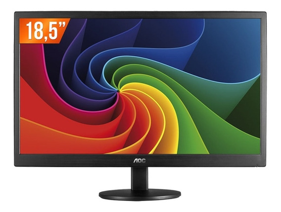 Monitor Led 18,5 Hd Widescreen E970swnl Aoc Novo
