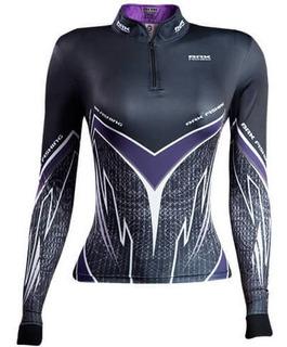 Camiseta Brk Fishing Feminina Purple Viper Fpu 50+