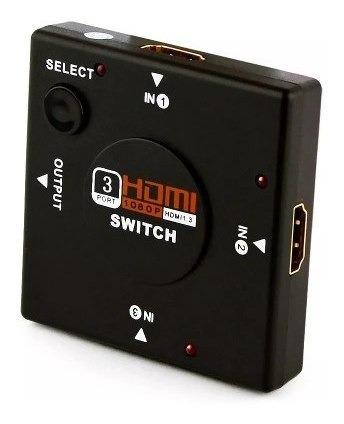 Seletor Switch Hdmi 3 Portas De Entrada 1 Porta De Saída