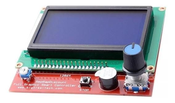 Tela Lcd 128x64 12864 Controle Impressora 3d Ramps Lcd