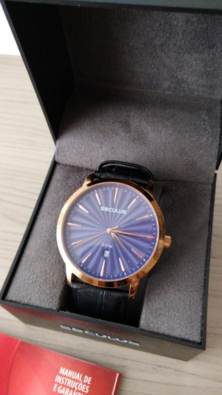 Relógio Barato Seculus Relógio Masculino Preto Na Caixa