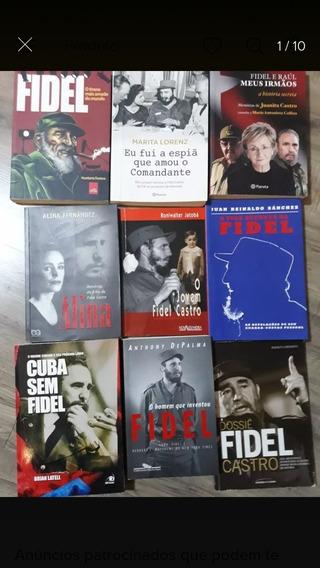 Kit C/ 9 Livros Fidel Castro - Revolução Cubana Frete Grátis