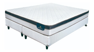 Somier + Colchon Resortes King Serta Indiana Extra Firm 2x2