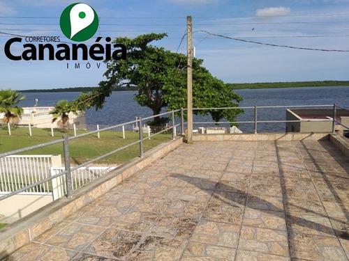 5 Dormitórios (2 Suítes) Frente Ao Mar Com Garagem E Rampa Náuticas, No Parque Náutico Em Cananéia/sp - Ca00058 - 34836522