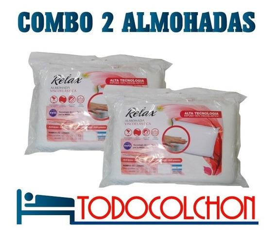 Combo 2 Almohadas Relax Inteligentes Clasica Fund Cierre 6c