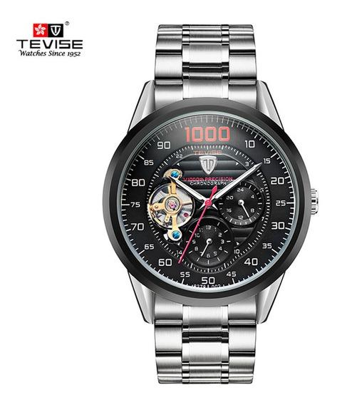Reloj Tevise 8378 Mecánico Caballero Lujo Acero Inoxidable
