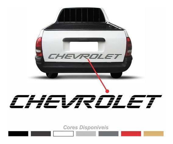 Adesivo Chevrolet Tampa Traseira Pick-up Corsa S10 Chevy 007