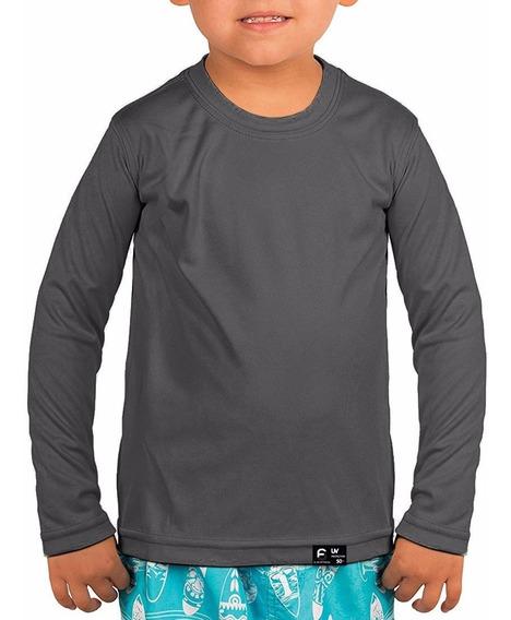 Kit 5 Camisetas Infantil Proteção Permanente Solar Uv 50+