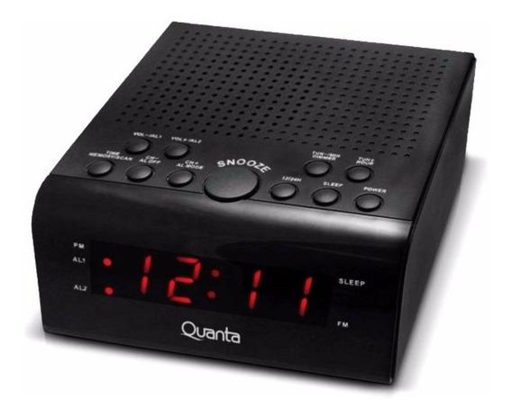 Rádio Relógio Despertador Qtrar4300 - Quanta 11cm