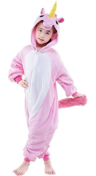 Pijama Unicornio Infantil Niña Kigurumi Disfraz Rosa