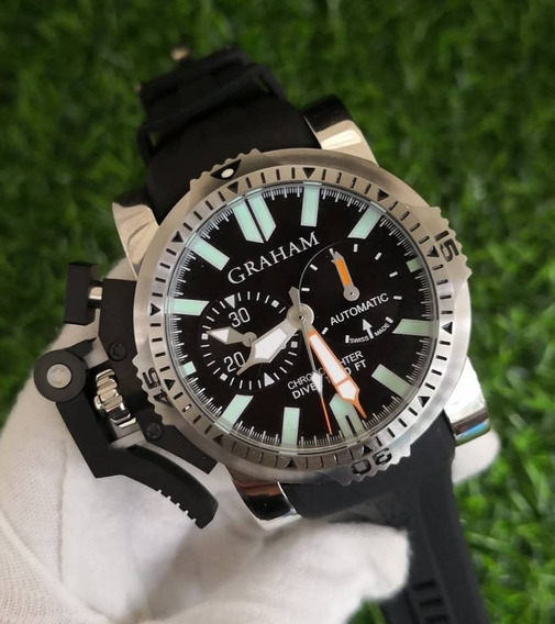 Relógio Graham Chronofighter Aço Cronógrafo