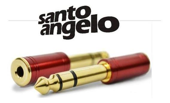02 Adaptador Santo Angelo P2 Fêmea Para P10 Macho Para Fone