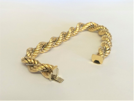 Pulseira Grossa Bracelete Ouro Amarelo 18 K 750 28,1 Gr