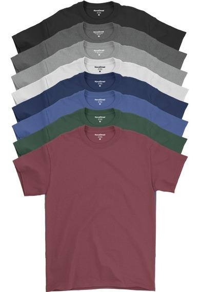 Kit Com 8 Camiseta Atacado Masculina Algodão Confort Line®