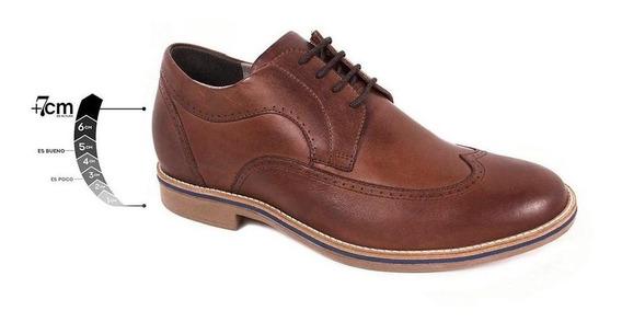 Zapato Casual Oxford Café Max Denegri +7cms De Altura -20%