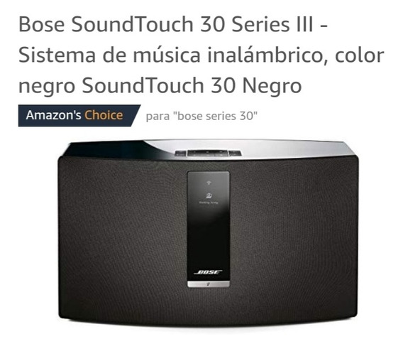Vendo Corneta Bose Serie 30 Wifi Nueva