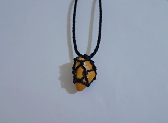 Colar De Pedra Jaspe Amarelo Signo Aries