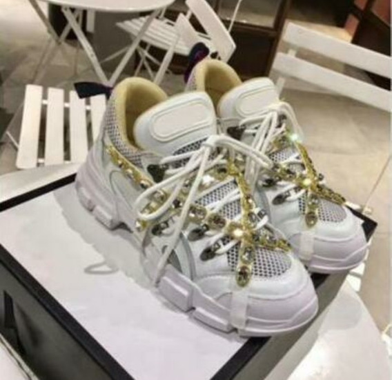Tênis Gucci Sneaker Flashtrek Cristais - + Brinde Kit Make