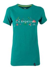 Vertriangle T-shirt Playera Con Manga Mujer Ropa La Sportiva