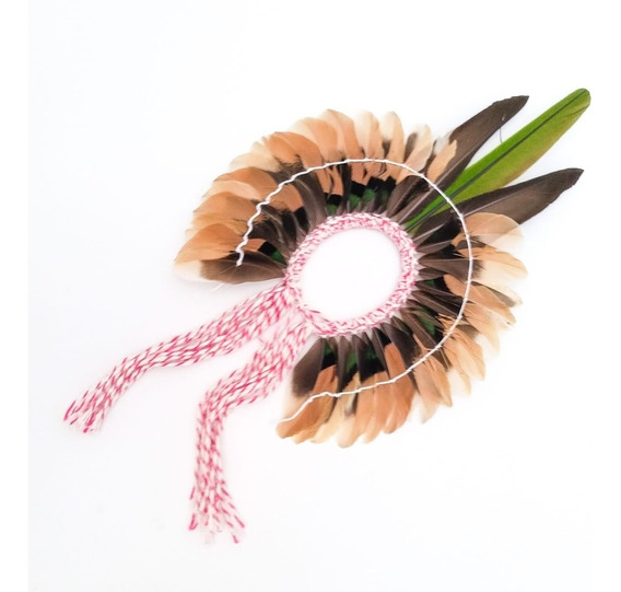 Cocar Mini Penacho Indígena Xamânico Decoração Umbanda