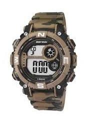 Relógio Digital Mormaii Mo12579a/8v Marrom