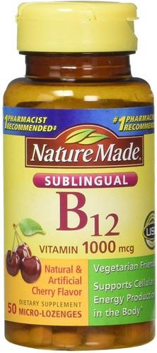 Nature Made B12 Sublingual Funcion Sist Nervioso Pack 3