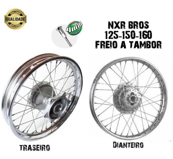 Aro Roda Montada Nxr Bros 125-150 Traseira + Dianteira 4mm