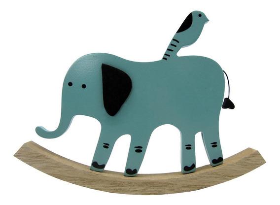 Juguete Adorno Infantil Madera Elefante 22cmx2cmx16,5