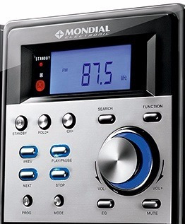 Frente Som Mondial Completo Ms-07 Micro System Cd Sound Star