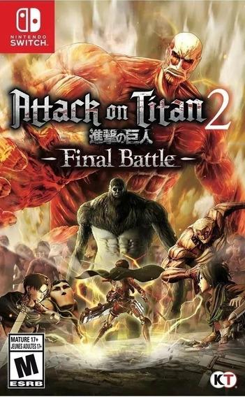 Jogo Attack On Titan 2 Final Battle Nintendo Switch