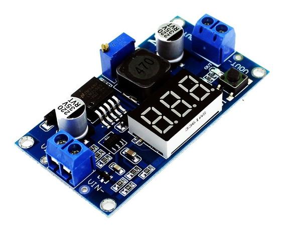 Regulador Tensão Lm2596 Dc Dc Step Down Fonte 2a Ajustável C/ Display - Regulagem Tensão De Saída 1.25 ~ 37v Dc