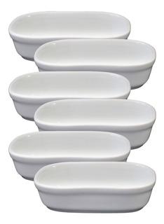 6 Travessinha Retangular De Porcelana Ref Bv131x