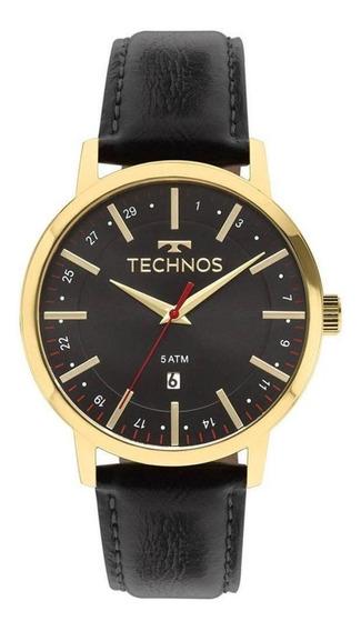 Relógio Technos Couro Masculino 2115mmi/4p