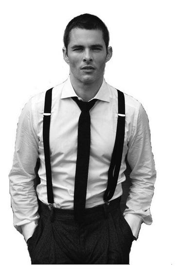Corbata Con Tiradores Y Camisa Entallada Hombre - Quality Import