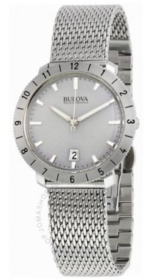 Relógio Bulova Accutron Ii Prata/aco Mesh/cinza Original