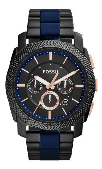 Relógio Fóssil Masculino Cronógrafo Fs5164/1fn Preto Azul